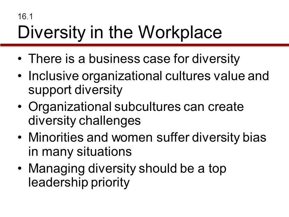 16.1 Diversity in the Workplace