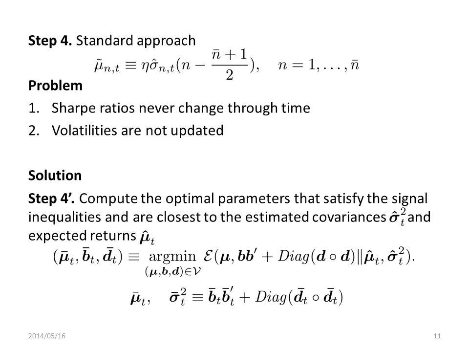 Step 4. Standard approach Problem