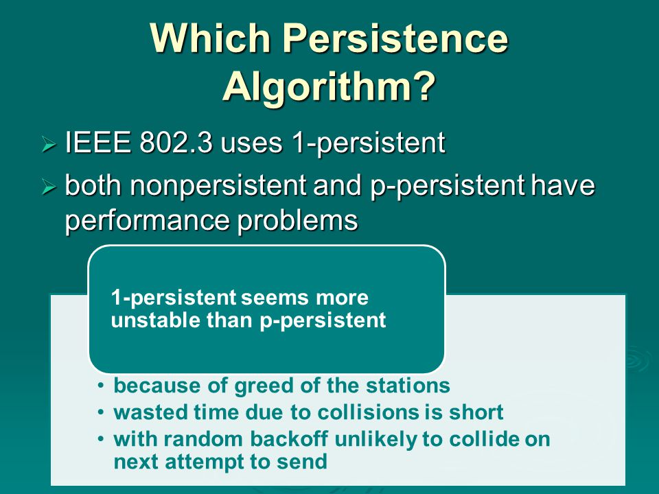 Which Persistence Algorithm