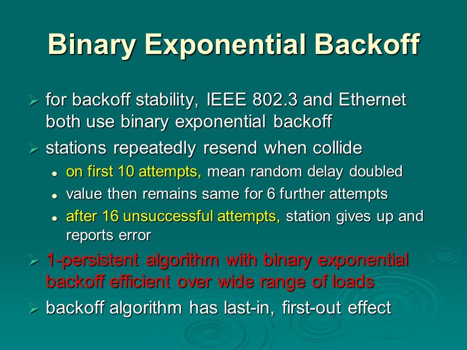 Binary Exponential Backoff