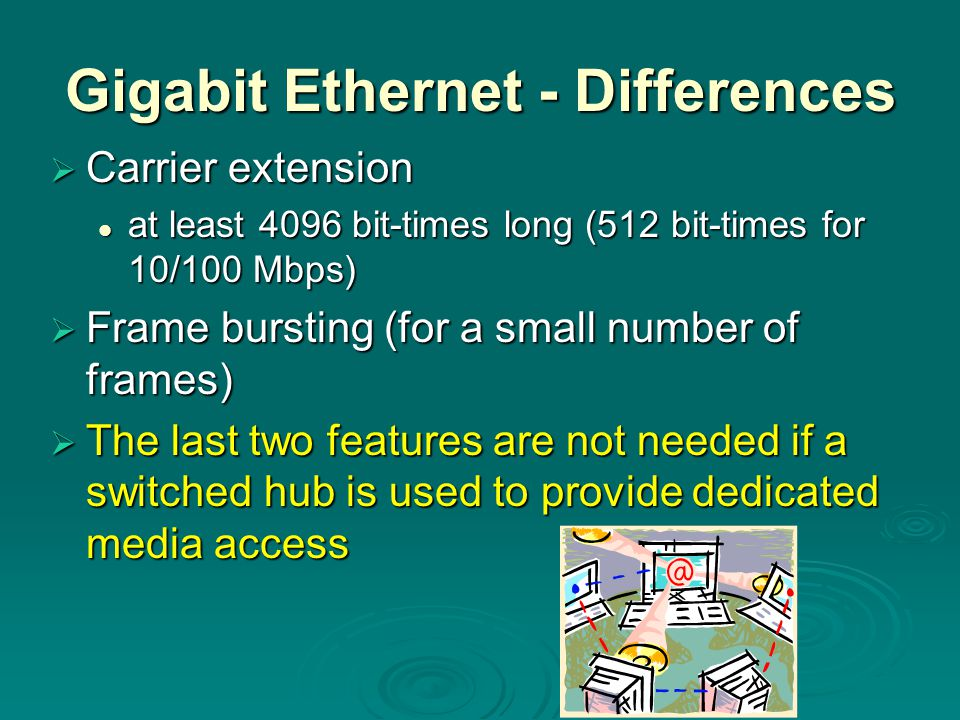 Gigabit Ethernet - Differences