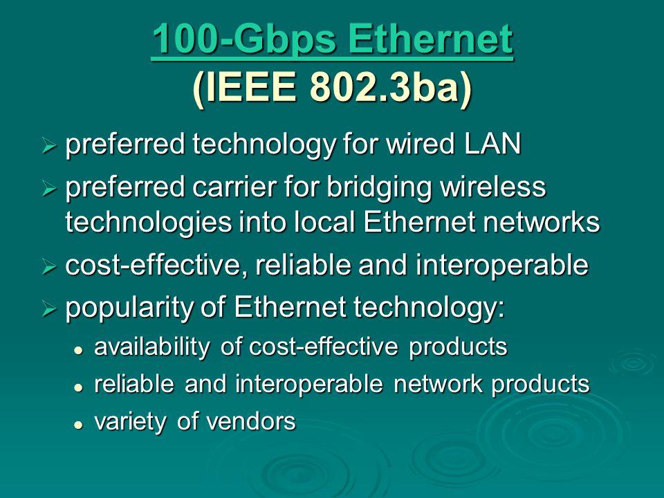 100-Gbps Ethernet (IEEE 802.3ba)