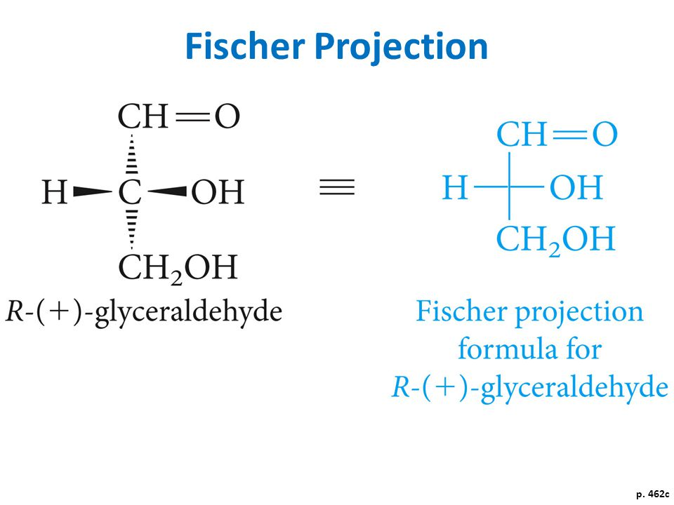 Fischer Projection p. 462c