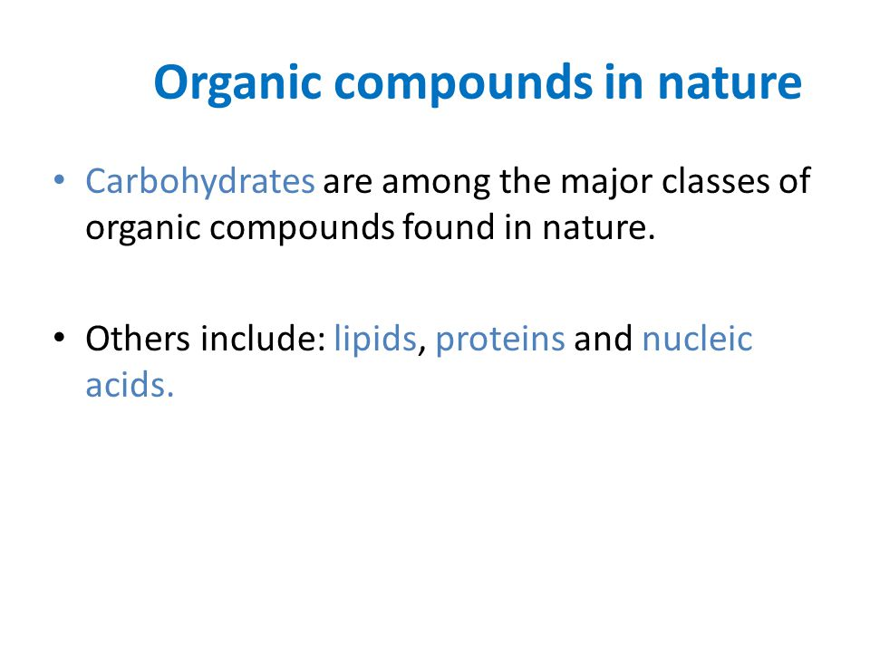 Organic compounds in nature