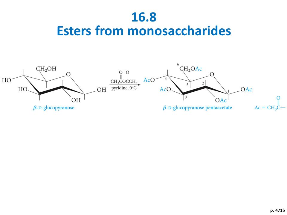 Esters from monosaccharides