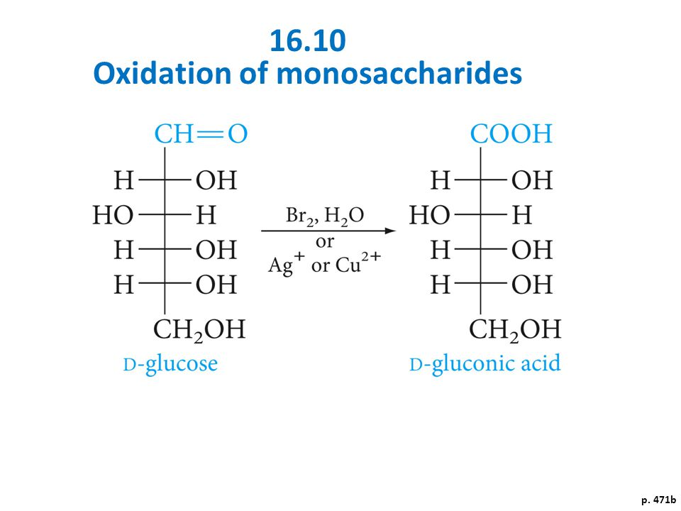 Oxidation of monosaccharides