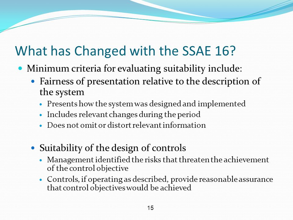 What has Changed with the SSAE 16