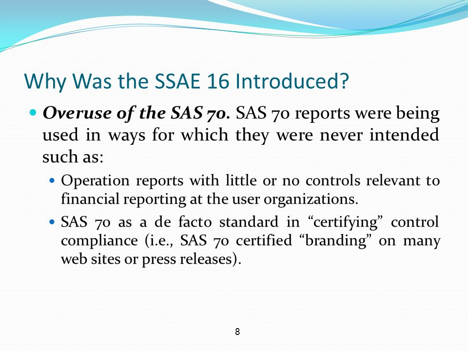 Why Was the SSAE 16 Introduced