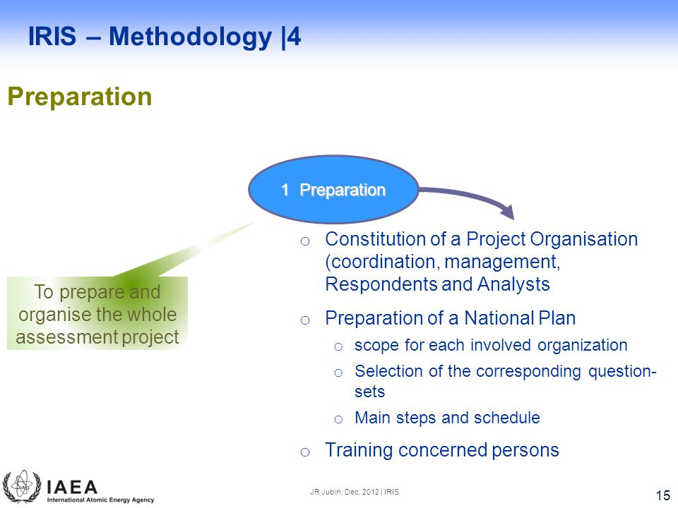 To prepare and organise the whole assessment project