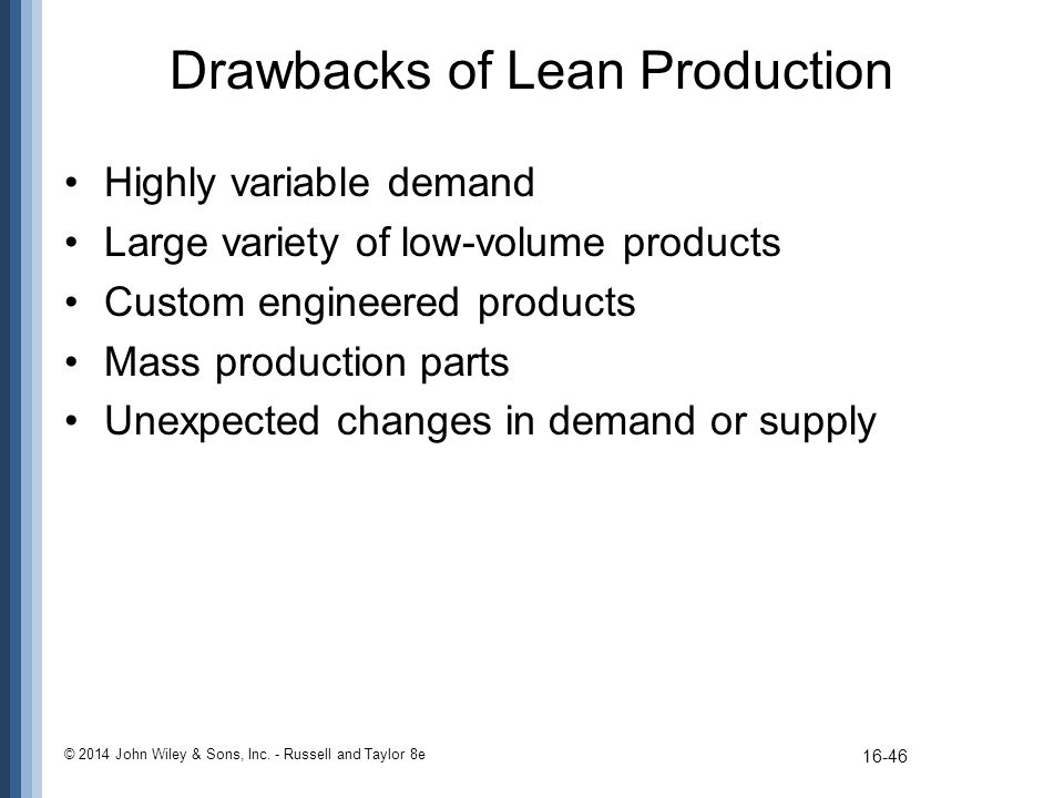 Drawbacks of Lean Production