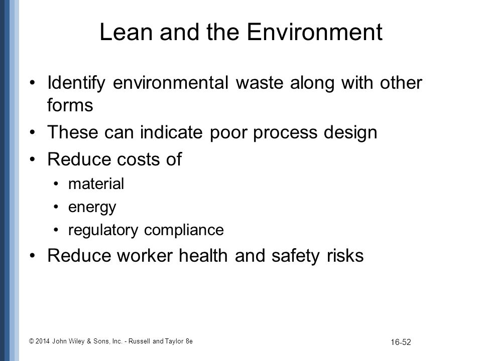 Lean and the Environment