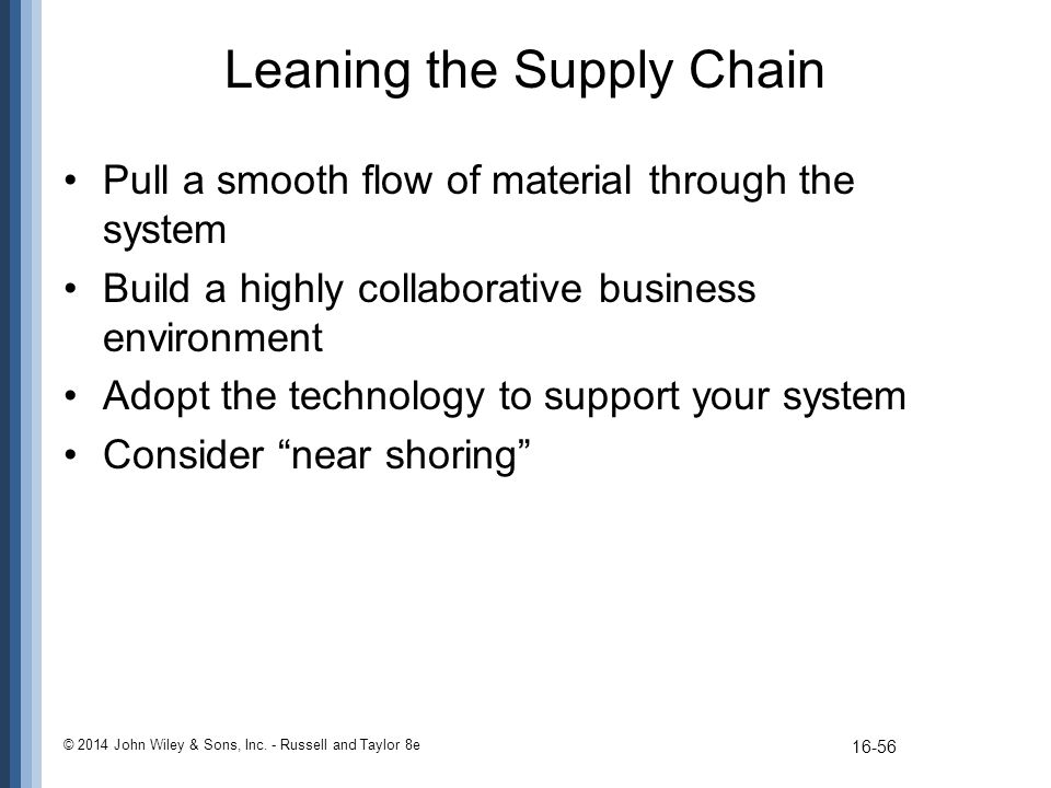 Leaning the Supply Chain