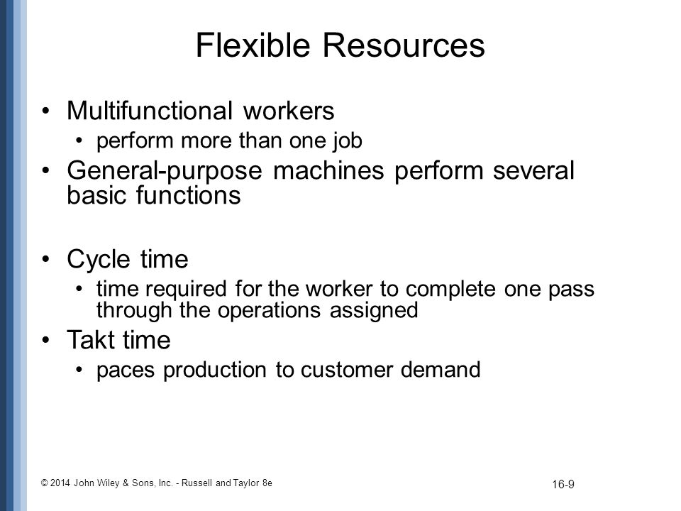 Flexible Resources Multifunctional workers