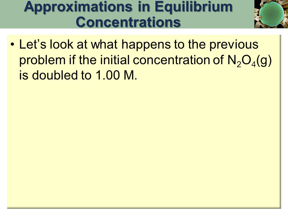 Approximations in Equilibrium Concentrations