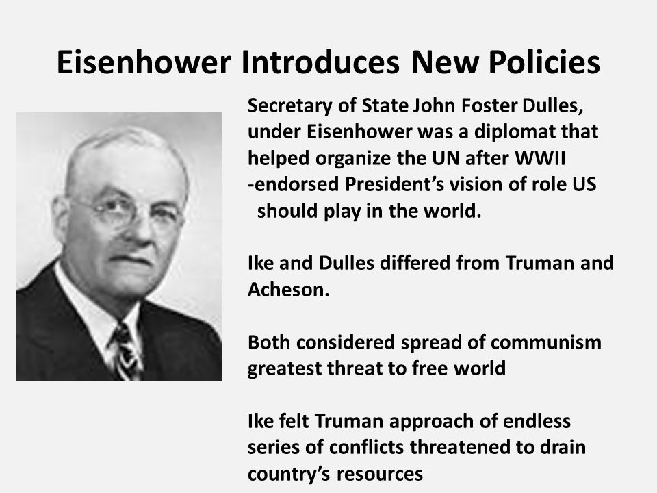 Eisenhower Introduces New Policies