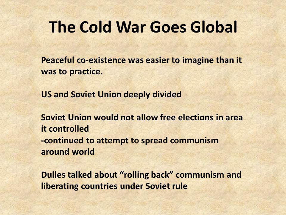 The Cold War Goes Global