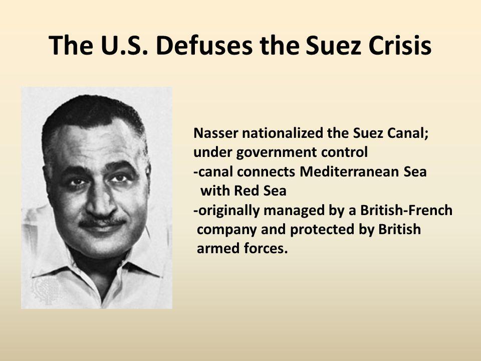 The U.S. Defuses the Suez Crisis