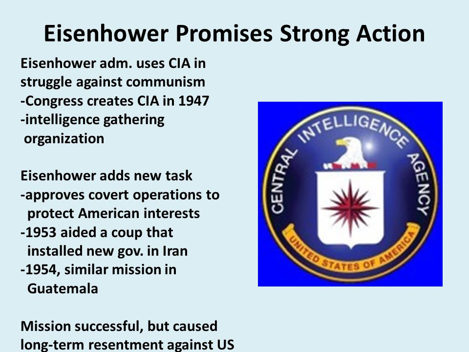 Eisenhower Promises Strong Action