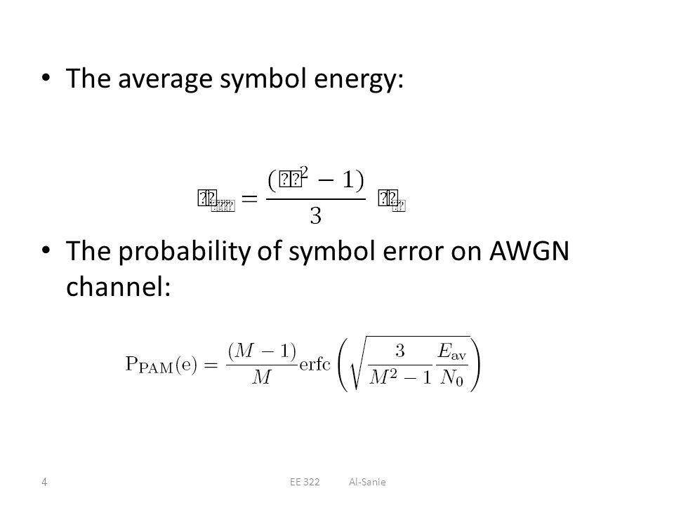 The average symbol energy: