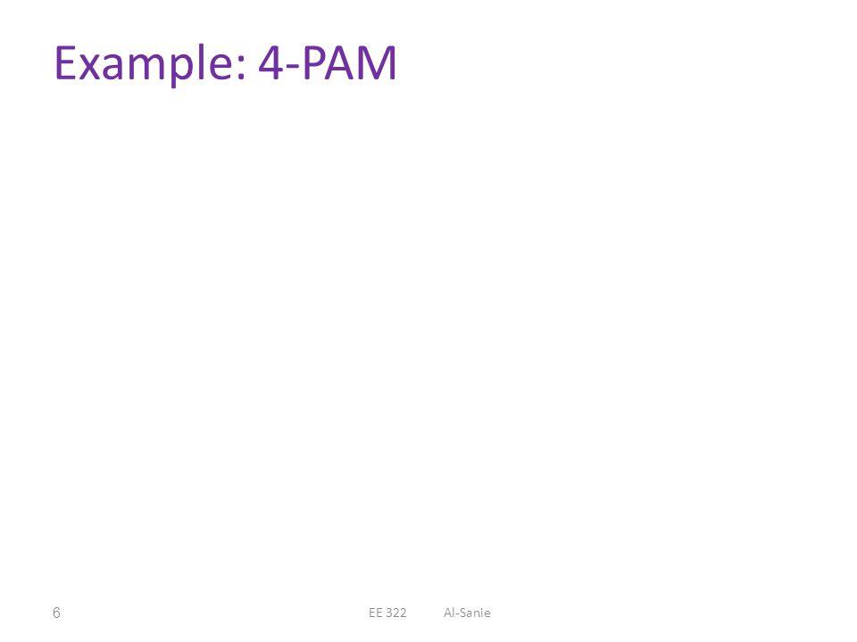 Example: 4-PAM EE 322 Al-Sanie
