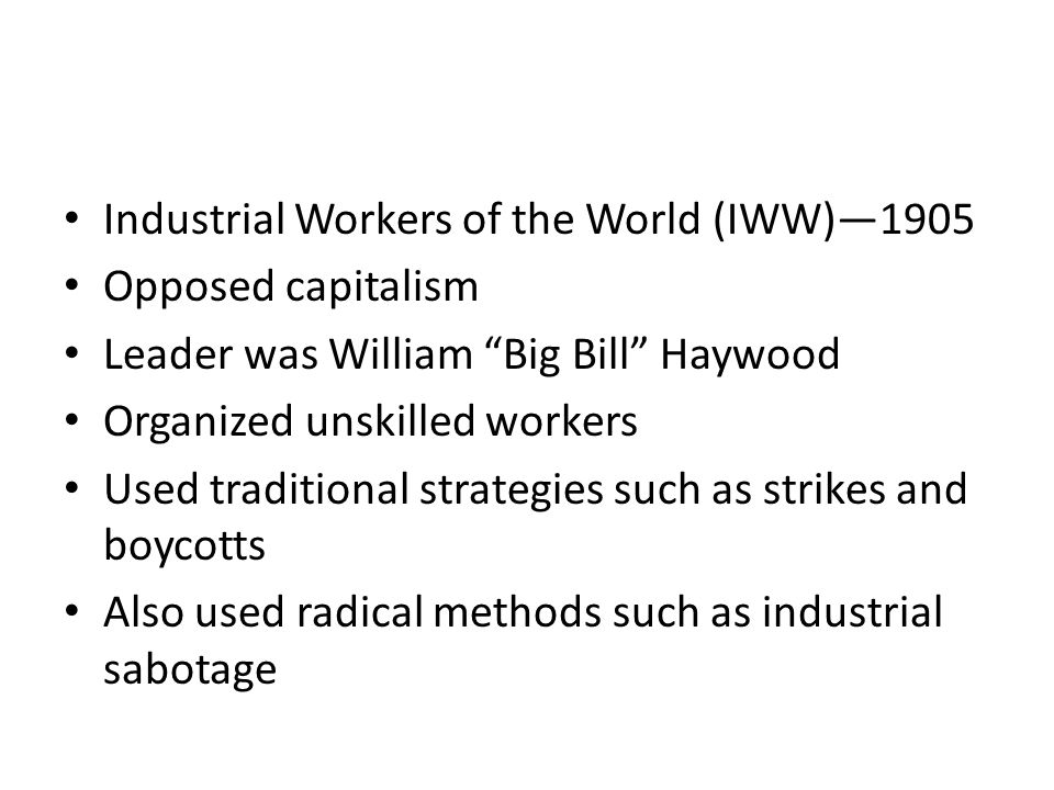 Industrial Workers of the World (IWW)—1905