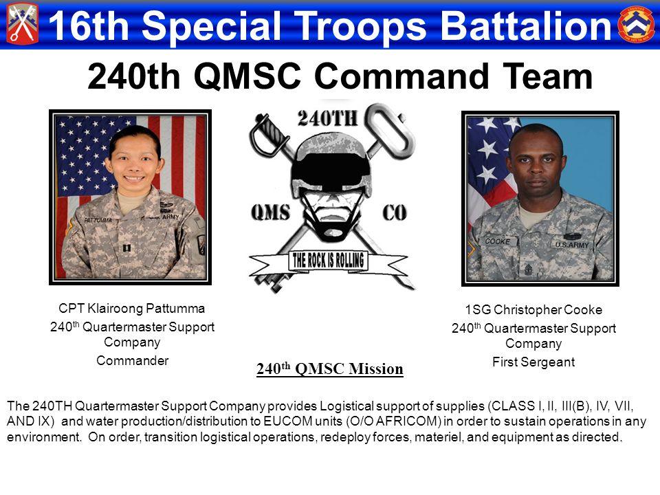 240th QMSC Command Team 240th QMSC Mission CPT Klairoong Pattumma