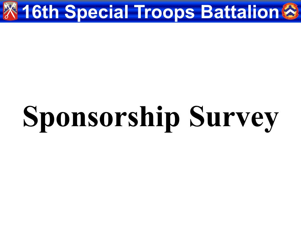 Sponsorship Survey S-1