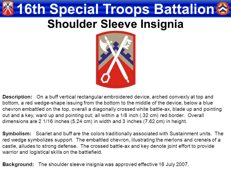 Shoulder Sleeve Insignia