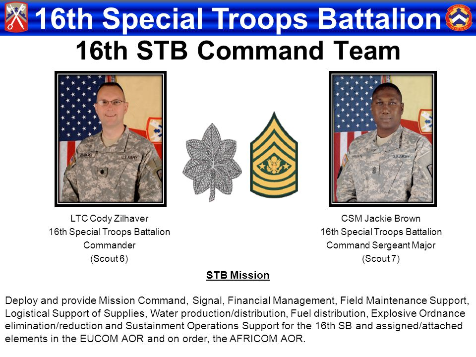 16th STB Command Team STB Mission