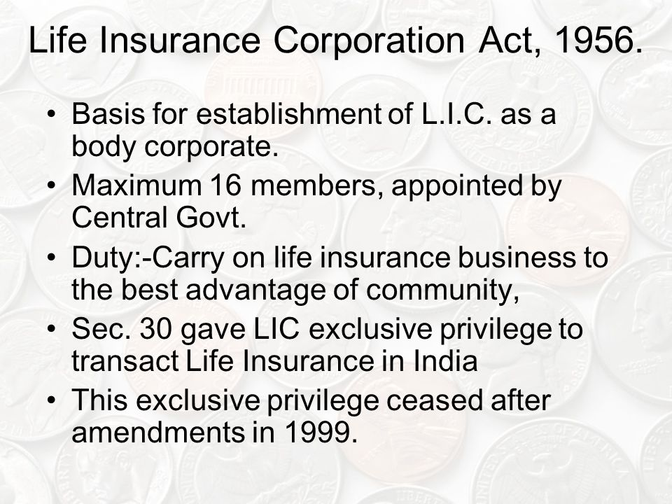Life Insurance Corporation Act, 1956.