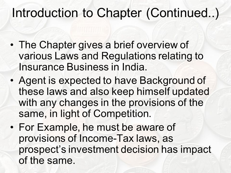 Introduction to Chapter (Continued..)