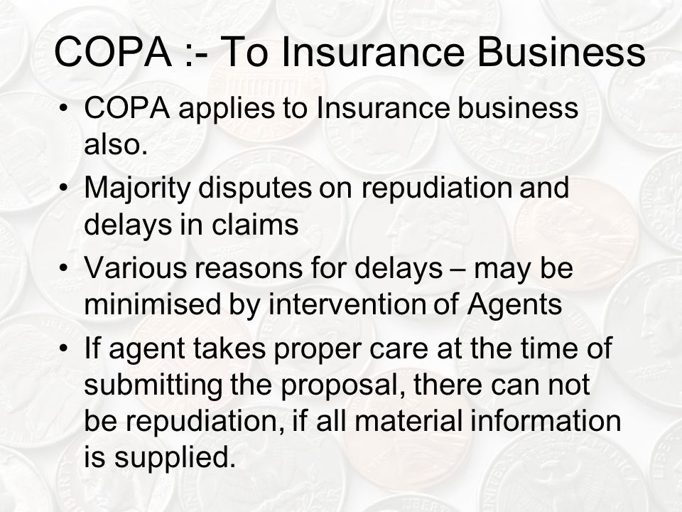 COPA :- To Insurance Business