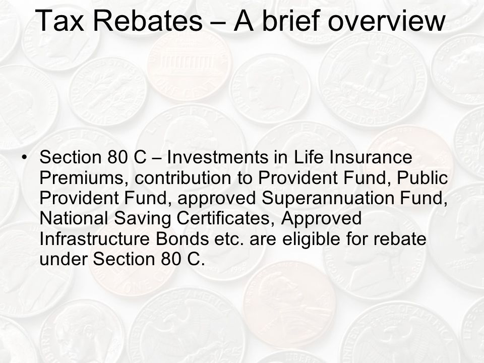 Tax Rebates – A brief overview