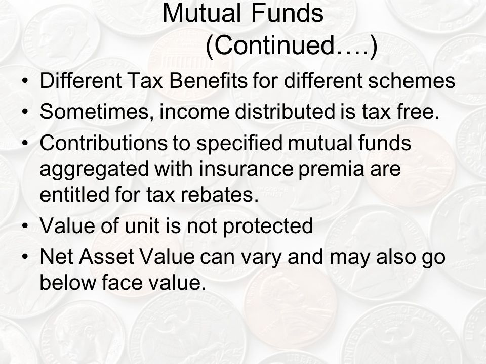 Mutual Funds (Continued….)