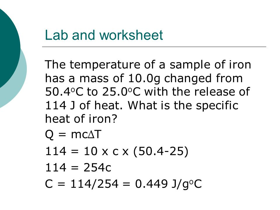 Lab and worksheet