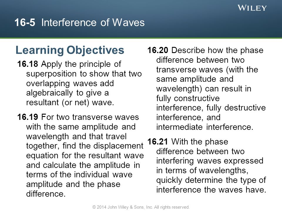 16-5 Interference of Waves