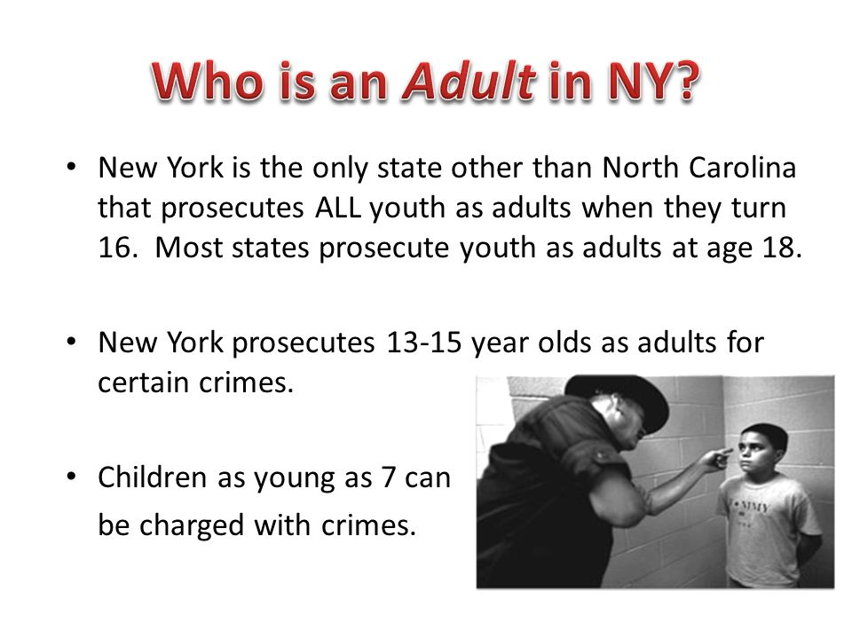Who is an Adult in NY