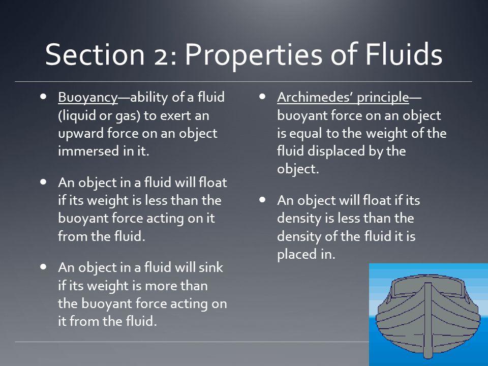 Section 2: Properties of Fluids