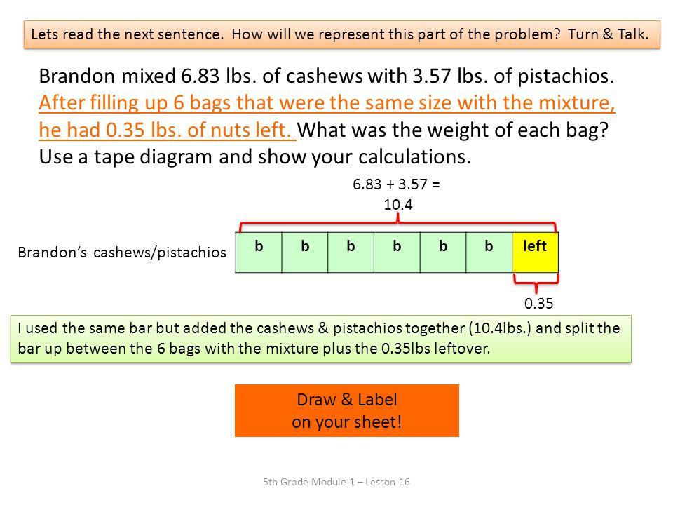 5th Grade Module 1 – Lesson 16
