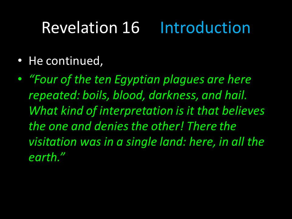 Revelation 16 Introduction