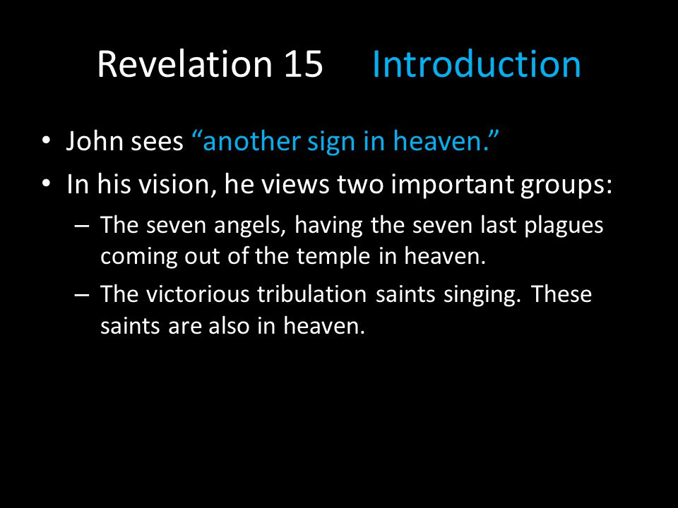 Revelation 15 Introduction