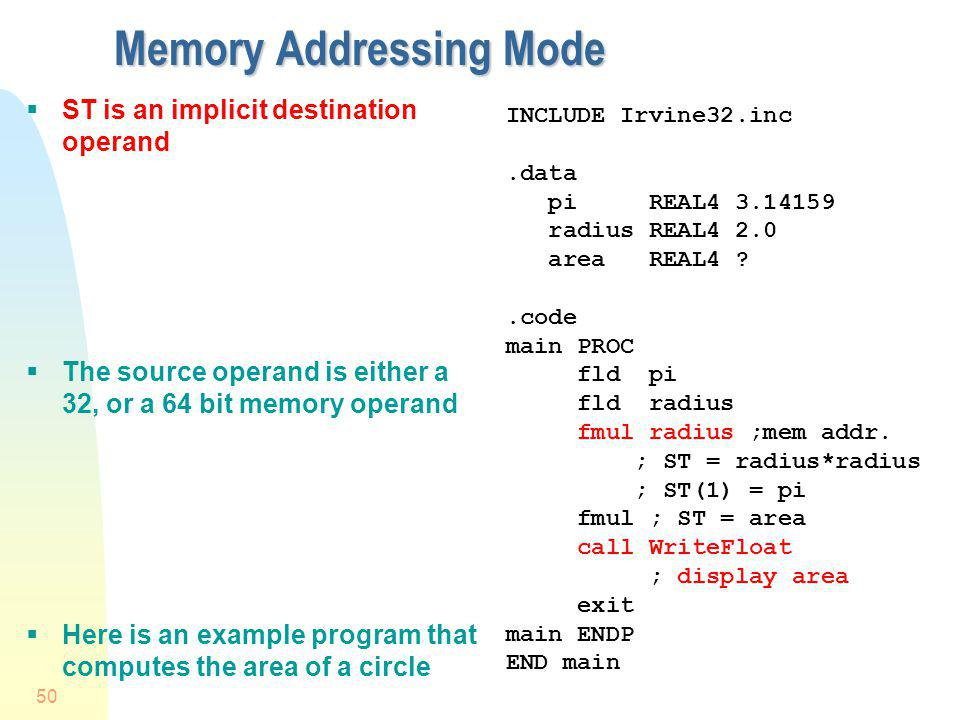 Memory Addressing Mode