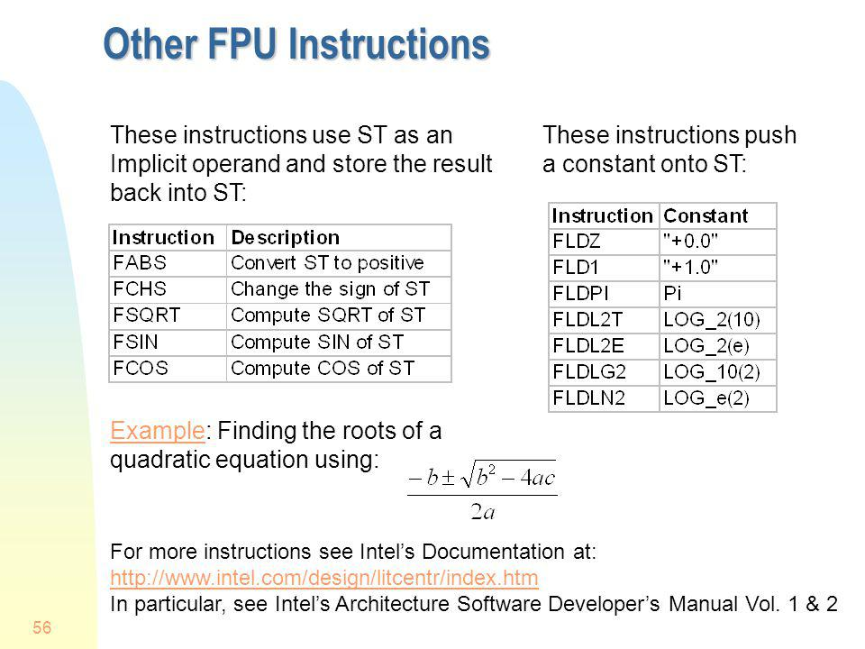 Other FPU Instructions
