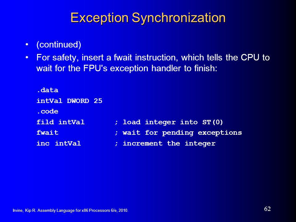 Exception Synchronization