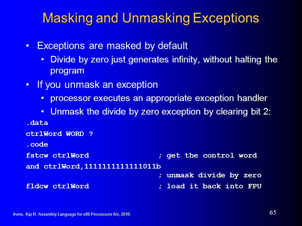 Masking and Unmasking Exceptions