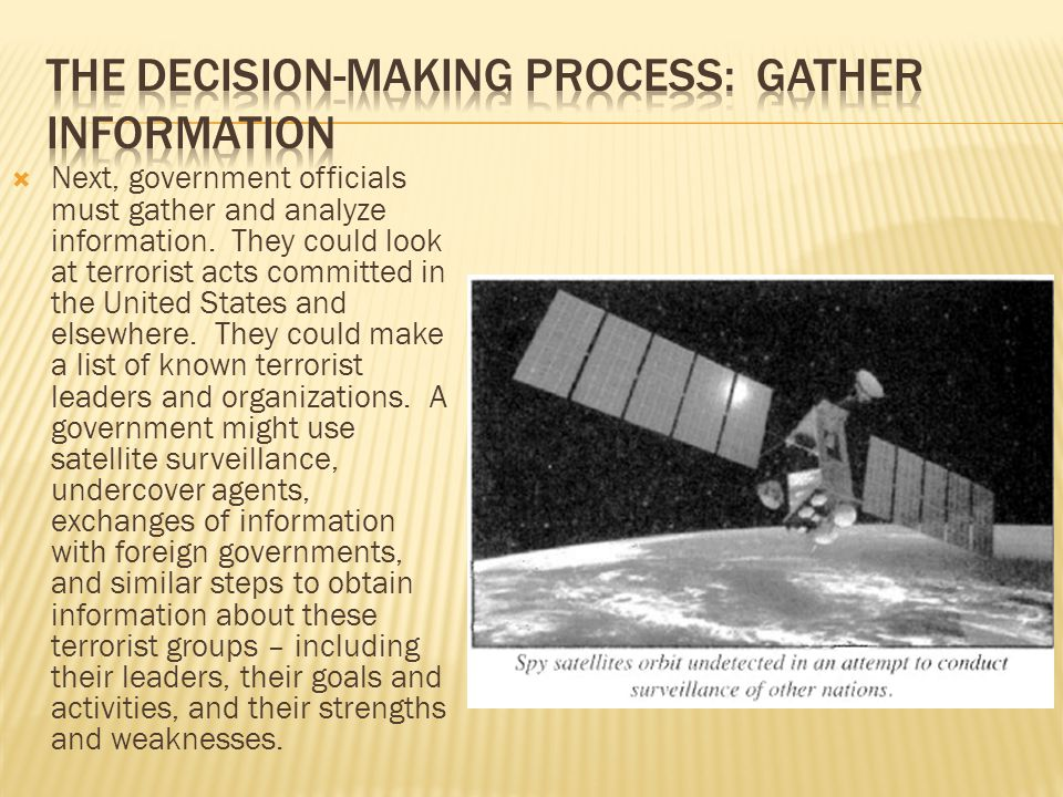 The Decision-Making Process: Gather Information