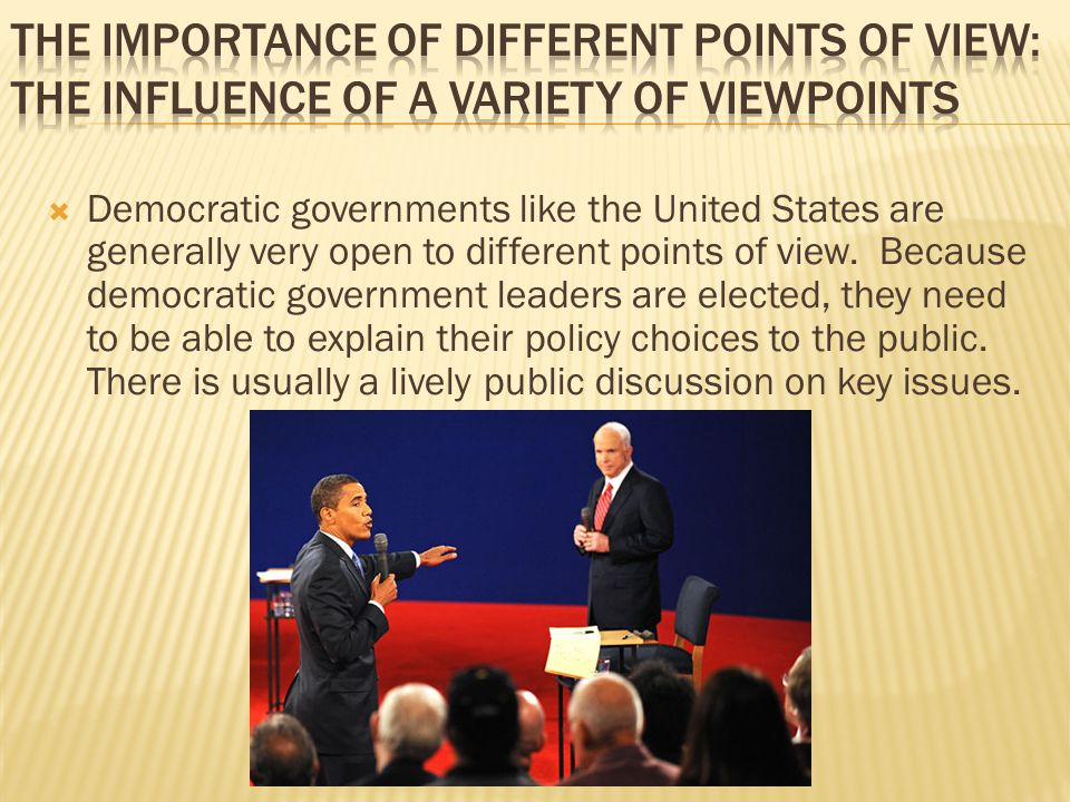 The Importance of Different Points of View: The Influence of a Variety of Viewpoints