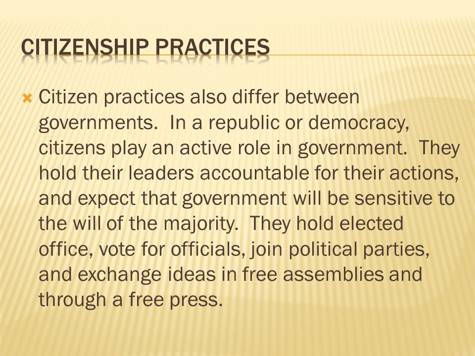 Citizenship Practices