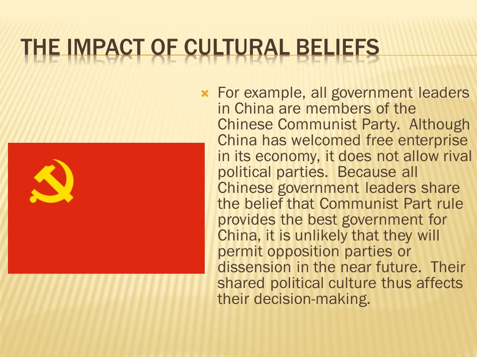 The Impact of Cultural Beliefs