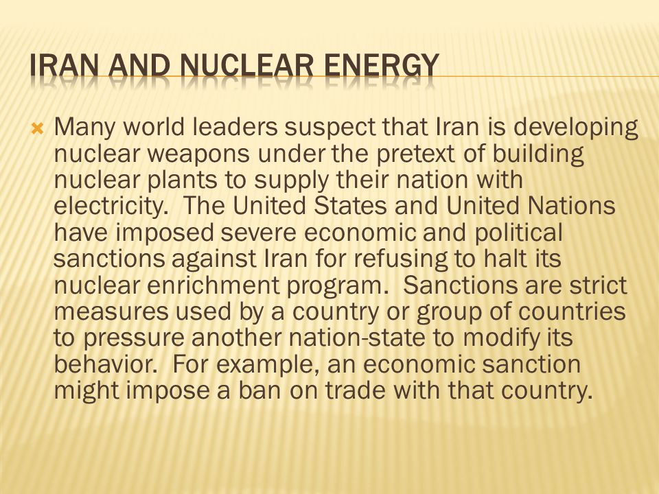 Iran and Nuclear Energy